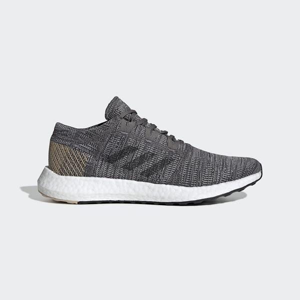 ADIDAS PUREBOOST GO [B37806] 男鞋 運動 休閒 慢跑 輕量 針織 避震 愛迪達 灰