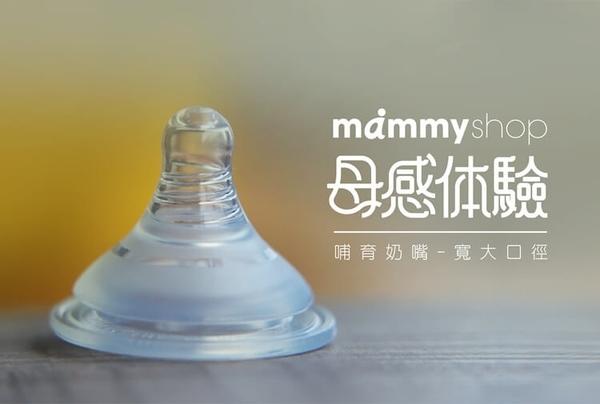 媽咪小站-母感體驗2.0寬大口徑M十字孔奶嘴(4入裝)/mammyshop 大樹