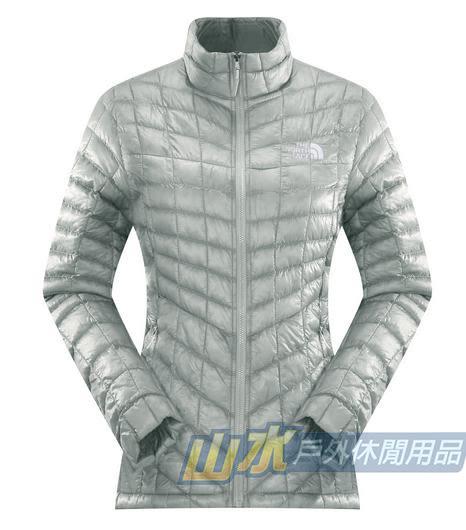 【山水網路商城】美國TNF 女 TB保暖連帽外套 ThermoBall暖魔球/保暖衣/保暖纖維 CUD5 灰白