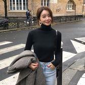 梨卡 - 秋冬基本款純色打底內搭高領保暖T恤上衣針織衫DR021