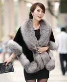 仿狐貍毛領貂皮皮草外套女修身顯瘦2018新款冬季時尚短款毛毛披肩「爆米花」