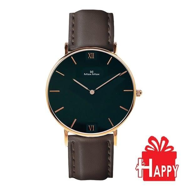 Max Max 時尚簡約腕錶 MAS7025-2 黑X咖啡-36mm