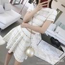 2021夏季新款韓版女連身裙針織甜美裙子chic風套裝短袖短裙兩件套 夏季新品