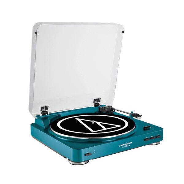 鐵三角 AT-LP60 全自動立體聲黑膠唱盤 藍色 公司貨 [My Ear 台中耳機專賣店]