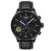 【僾瑪精品】TISSOT天梭 Chrono XL系列 NBA勇士隊 三眼計時腕錶-45mm/黑/T1166173605102