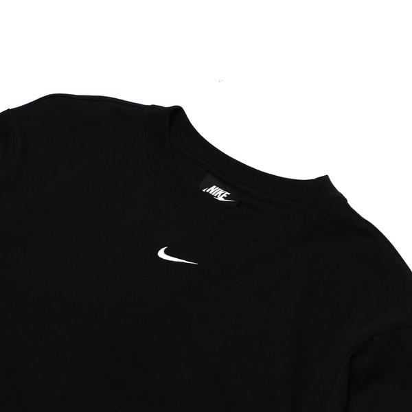 NIKE 短T NSW 黑色 刺繡小LOGO 寬鬆 短T 素T 女 (布魯克林) DH4256-010