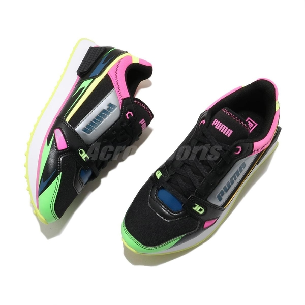 Puma 休閒鞋 Mile Rider Sunny Getaway Wns 黑 彩色 女鞋 蔡依林 代言款 運動鞋 【ACS】 37344302