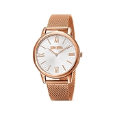 【Folli Follie】Match Point羅馬時尚簡約米蘭腕錶-玫瑰金/WF15R033BPW_XX/台灣總代理公司貨享兩年保固