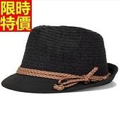 小禮帽-英倫百搭新款正韓陽光帥氣男爵士帽2色67e41【巴黎精品】