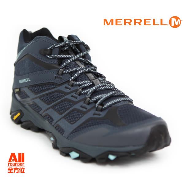 【Merrell】男款戶外鞋 MOAB FST GORE-TEX 多功能系列 -灰藍色(12169)【全方位運動戶外館】