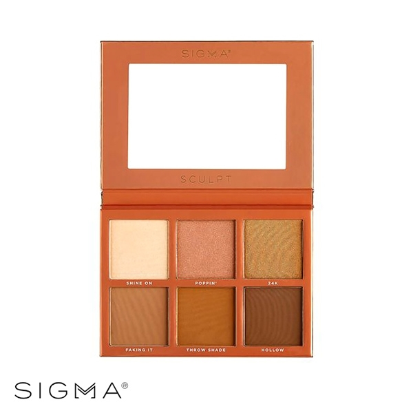 Sigma 6色專業打亮修容盤 27.48g Sculpt Highlight+Contour Palette - WBK SHOP