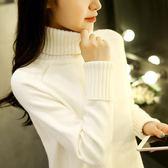 高領毛衣寬松套頭學生長袖針織打底衫秋冬百搭 巴黎春天