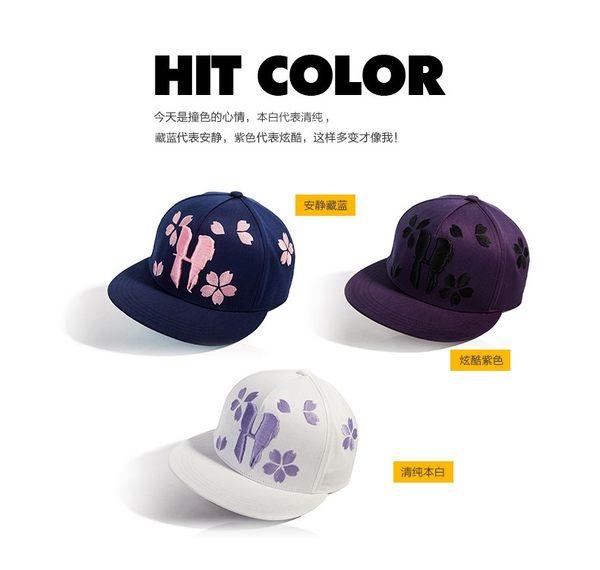 女夏季韓版潮棒球帽 時尚全棉立體繡花平檐鴨舌帽 嘻哈帽 遮陽帽 防曬帽