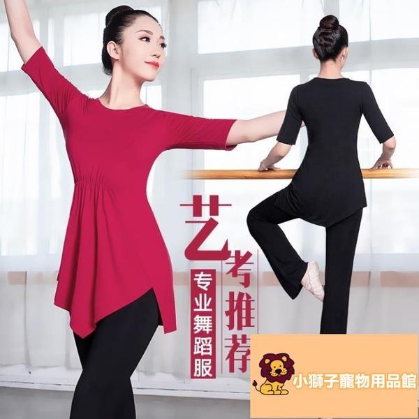 拉丁舞服裝練功衣服現代舞舞蹈練功服套裝女形體禮儀跳舞訓練【小狮子】