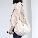 斜背包 素色 簡約 帆布包 拉鍊 斜挎包 單肩包--單肩包/斜背包【AL437】 BOBI  04/25