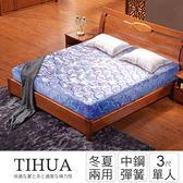 IHouse-經濟型 提花硬式高碳鋼彈簧床墊-單人3x6.2尺