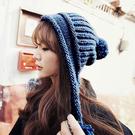 毛線帽-韓版潮甜美可愛保暖針織護耳混色毛...