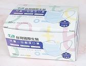 台灣國際生醫 台灣製 平面口罩 兒童口罩 一盒50片 防塵口罩 裸包