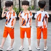 6兒童裝男童夏裝新品新款9中大童10男孩運動短袖套裝正韓12潮15歲