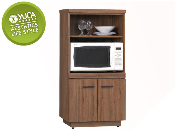 餐櫃【YUDA】比提 經典 木紋 2*4尺 收納櫃/餐櫃/碗盤櫃 J8S 214-3