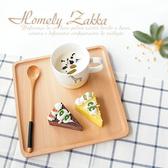 【Homely Zakka】木趣食光木質正方型托盤/餐盤(大正方)大正方23*23cm