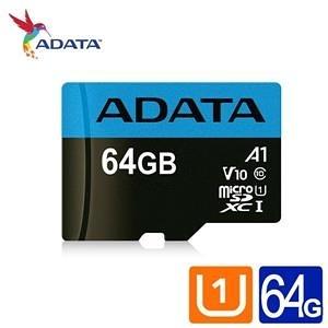 全新 威剛 Premier microSDHC UHS-I (A1) 64G記憶卡(附轉卡)