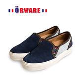 ORWARE-反毛皮休閒板鞋/女款 652034-07(藍)