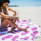 鳳梨 甜甜圈 印花沙灘巾 海灘 度假 沙灘 地墊 橘魔法 Baby magic