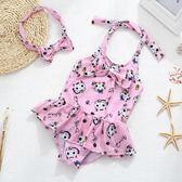 聖誕免運熱銷 兒童泳裝兒童泳衣女童中小童女孩連身裙式游泳衣寶寶嬰幼兒公主可愛泳裝