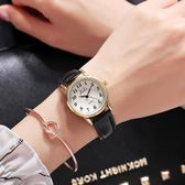 新款韓版簡約男女學生潮流時尚休閒大氣防水數字情侶手錶一對   LannaS