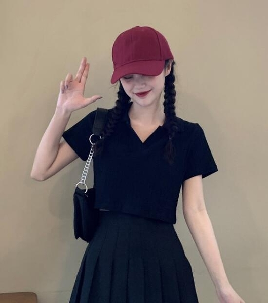 短袖T恤POLO衫黑色