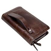 長皮夾-紳士品格大容量手拿男錢包2色73nz6[巴黎精品]