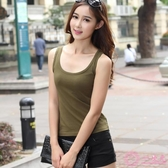 新款吊帶女背心大尺碼女裝夏季打底衫修身顯瘦工字外穿韓版緊身背心 一次元