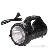 手電筒 LED強光手電筒可充電探照燈超亮戶外巡邏多功能手提礦燈家用 莫妮卡小屋