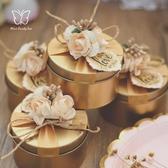 喜糖盒結婚喜糖盒高檔糖盒創意婚禮糖果鐵盒子含糖成品禮盒裝定制名字【快速出貨八折搶購】
