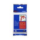 Brother TZe-RW34 絲質緞帶 標籤帶 12mm 酒紅底金字 PT-1280/2700/P300BT