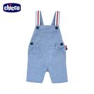 chicco-小熊船長-直條紋拼接吊帶短褲