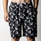 沙灘褲男女情侶游泳褲寬鬆五分褲大碼海邊沖