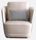 【南洋風休閒傢俱】沙發系列-畢維斯單人皮沙發 休閒沙發 飯店沙發 餐椅 JX420-1