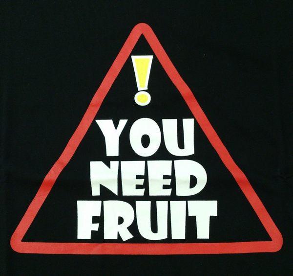 注意標示創意圓領上衣‧黑色‧棉T-【Fruit Shop】