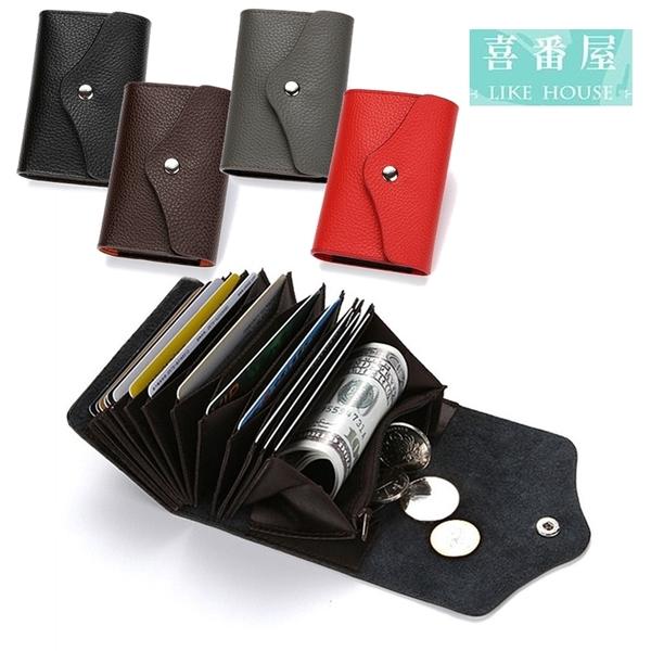 【喜番屋】真皮牛皮14卡位卡片包卡片夾卡片套卡包卡夾卡套皮夾零錢包小錢包硬幣包【CB147】