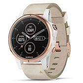 GARMIN fenix 5S Plus 皮革錶帶行動支付音樂GPS複合式心率腕錶
