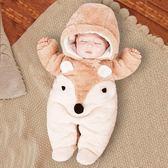 初生嬰兒連體衣秋冬季新生兒衣服寶寶外出抱衣女保暖加厚網紅冬裝【店慶8折促銷】