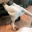 半身裙 秋冬中長款後開叉包臀裙子兩面穿蕾絲網紗裙 【618特惠】