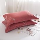 【限時下殺89折】棉質信封枕套一對裝枕頭套48*74cm全棉枕芯套單人學生
