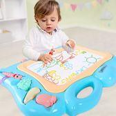 兒童畫板磁性塗鴉板彩色無毒可擦嬰幼寫字板1-3歲早教WY【全館免運】
