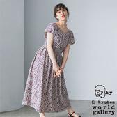 「Summer」2WAY兩穿式碎花V領收腰洋裝 - E hyphen world gallery