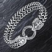 復古鈦鋼個性霸氣男士手鏈粗款手環LJ2202『夢幻家居』