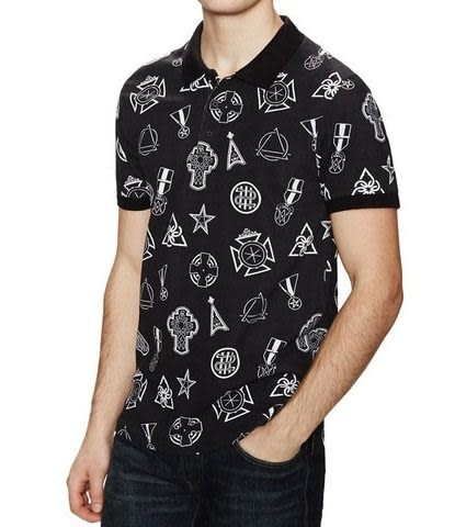 Eleven Paris短袖上衣 勳章圖案黑色設計款短袖T恤