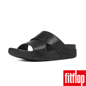 FitFlop TM _BANDO TM LEATHER SLIDES OSTRICH-黑色